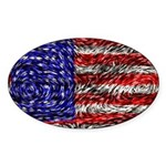 Van Gogh's Flag of the US Sticker (Oval)