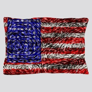 Van Gogh's Flag of the US Pillow Case