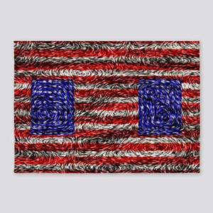 Van Gogh's Flag of the US 5'x7'Area Rug
