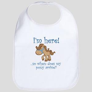 PonyArrive_Blue Baby Bib