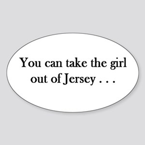 You can take the girl out of Jersey mug Sticker