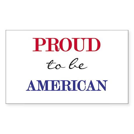 American Pride Rectangle Sticker