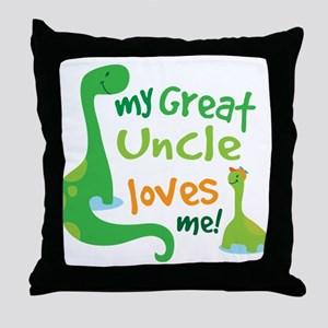 My Great Uncle Loves Me Throw Pillow