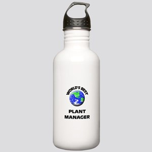World's Best Plant Manager Water Bottle