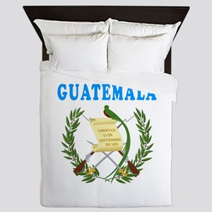 Guatemala Coat Of Arms Designs Queen Duvet