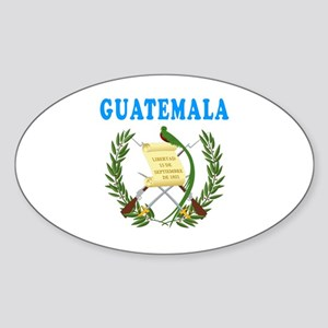 Guatemala Coat Of Arms Designs Sticker (Oval)