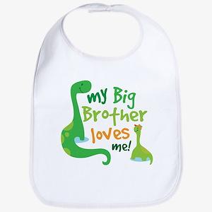Big Brother Loves Me dinosaur Bib