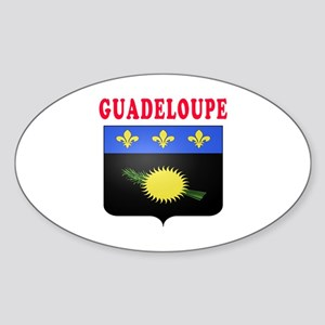 Guadeloupe Coat Of Arms Designs Sticker (Oval)