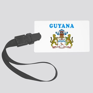 Guyana Coat Of Arms Designs Large Luggage Tag