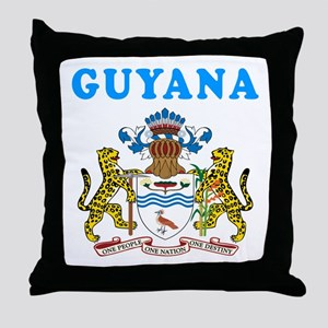 Guyana Coat Of Arms Designs Throw Pillow