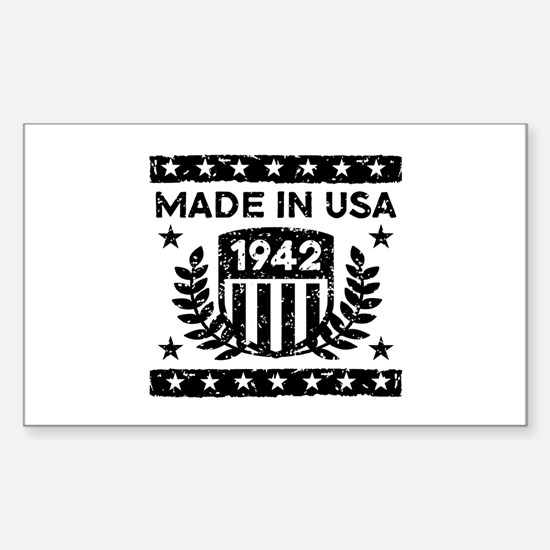 Made In USA 1942 Sticker (Rectangle)