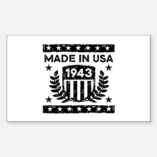 Made In USA 1943 Sticker (Rectangle)