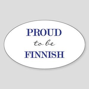 Finnish Pride Oval Sticker