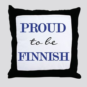 Finnish Pride Throw Pillow