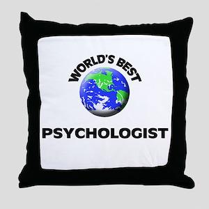 World's Best Psychologist Throw Pillow