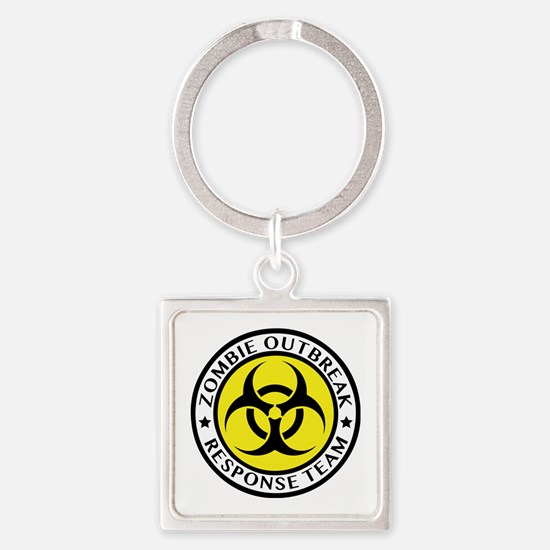 Zombie Outbreak Response Team Square Keychain
