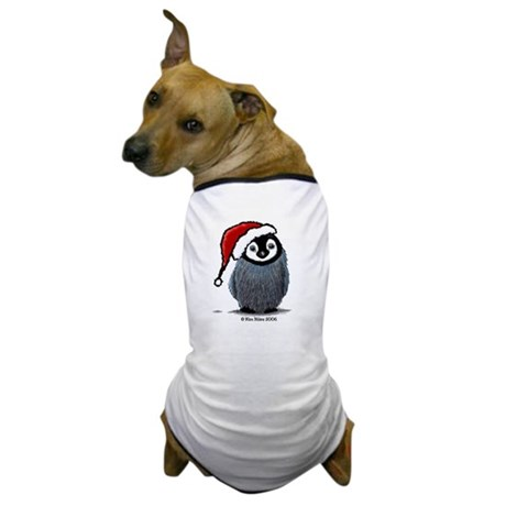 Christmas Penguin Dog T-Shirt