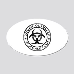 Zombie Outbreak Response Team 22x14 Oval Wall Peel