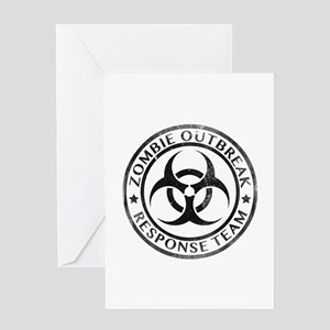 Zombie Outbreak Response Team Greeting Card