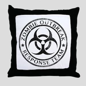 Zombie Outbreak Response Team Throw Pillow