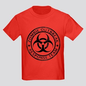 Zombie Outbreak Response Team Kids Dark T-Shirt