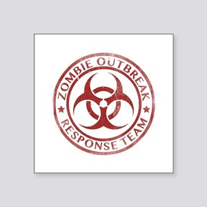 "Zombie Outbreak Response Team Square Sticker 3"" x"
