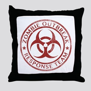 Zombie Outbreak Response Team Throw Pillow