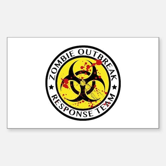 Zombie Outbreak Response Team Sticker (Rectangle)