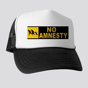 NO AMNESTY Trucker Hat