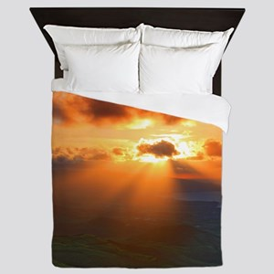 Inspirational heaven sunset Queen Duvet