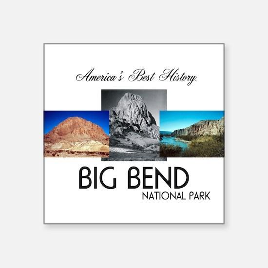 "ABH Big Bend Square Sticker 3"" x 3"""