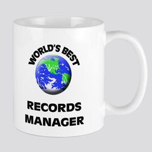 World's Best Records Manager Mug
