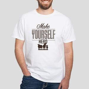 Make Yourself Herd White T-Shirt
