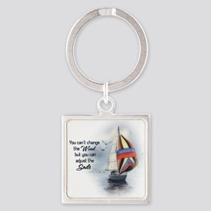 You Cant Change the Wind Keychains