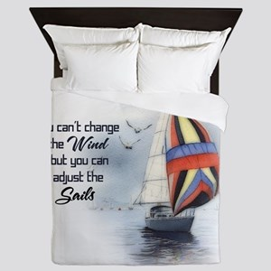 You Cant Change the Wind Queen Duvet