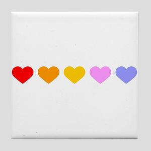 5-hearts Tile Coaster