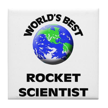 World's Best Rocket Scientist Tile Coaster