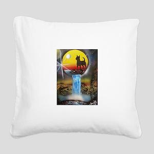 Chihuahua Dreams Square Canvas Pillow