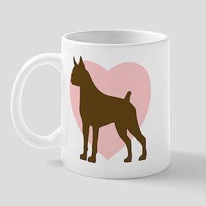 Boxer Heart Mug