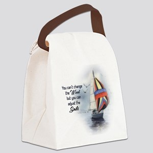 You Cant Change the Wind Canvas Lunch Bag
