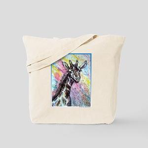 Giraffe, wildlife art! Tote Bag