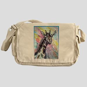 Giraffe, wildlife art! Messenger Bag