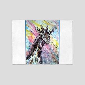Giraffe, wildlife art! 5'x7'Area Rug