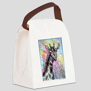 Giraffe, wildlife art! Canvas Lunch Bag
