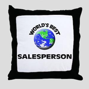 World's Best Salesperson Throw Pillow