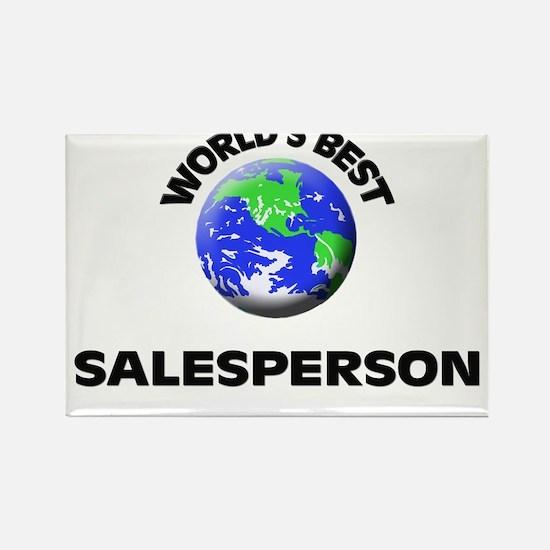 World's Best Salesperson Rectangle Magnet