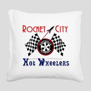 Rocket City Hot Wheelers Square Canvas Pillow