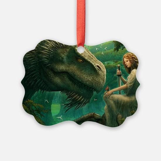 Green Dragon And Mistress Ornament