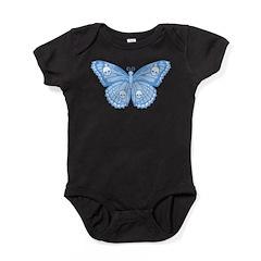 Blue Skull Butterfly Baby Bodysuit
