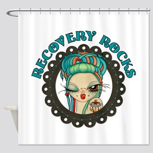 Recovery Rocks~2000x2000 Shower Curtain
